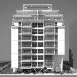 בניין שרטוט שחור לבן